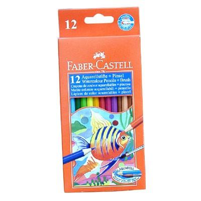 Цветни моливи 12 цв., Faber Castell акварелни
