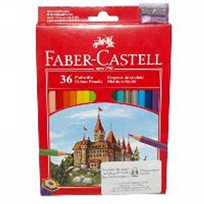 Цветни моливи 36 цв., Faber Castell замък,с острилка