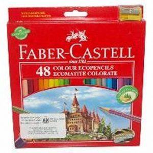 ветни моливи 48 цв., Faber Castell замък,с острилка