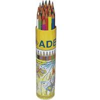 Цветни моливи 24 цв., Adel в тубус