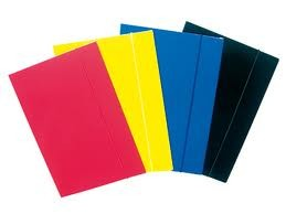 Папка А4 картон с ластик