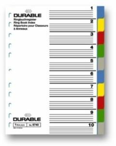 Пластмасов разделител DURABLE,10 цвята