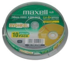 DVD+R DL MAXELL 8.5GB 8X
