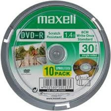 DVD-R Maxell 8cm 1.4GB 8см