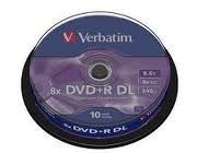 DVD+R,Verbatim 8x, 8.5GB, Dual Layer Print
