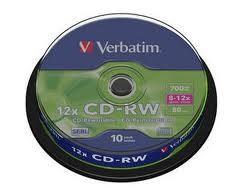 CD-RW Verbatim 700mb,8-12x
