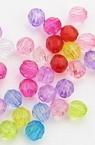 Мъниста пластмасови,многостенни