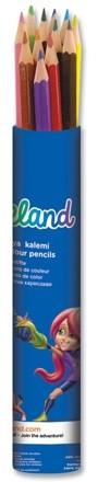 Цветни моливи Adeland метален тубус 12цв