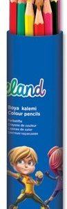 Цветни моливи Adeland метален тубус 24цв