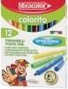 Флумастри Fibracolor Colorito 12 цвята