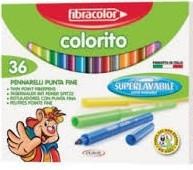 Флумастри Fibracolor Colorito 36 цвята