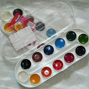 Акварелни бои Естрела медови 12 цвята