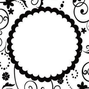 Папка за релеф - 10.5x15cm - Floral Frame