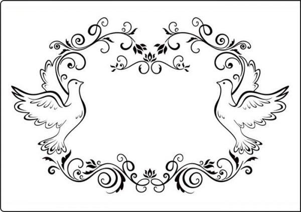 Папка за релеф - A4 - Dove Frame
