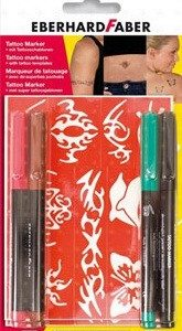 К-т маркери за татуировки Eberchard Faber 4 цвята