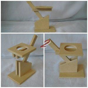 Свещник- МДФ 9,5х7см поставка,височина 11см