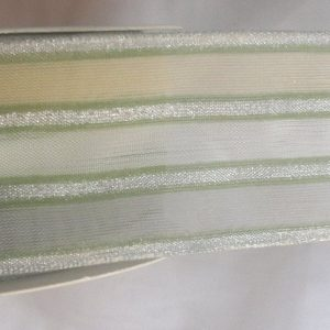 Текстилна лента органза с мотив 4см