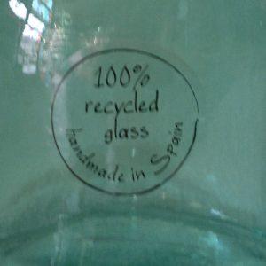 Бутилка-стъклена за декорация 9х15см /ръчна изработка/
