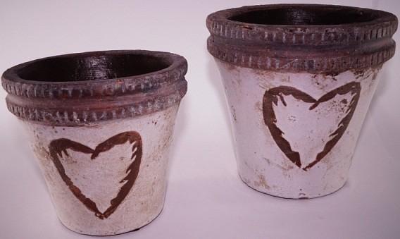 Ваза със сърце - керамика