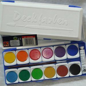 Акварелни бои 12 цвята