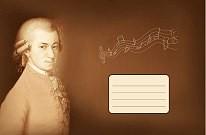 Нотна тетрадка В5 10л с Моцарт,Бах