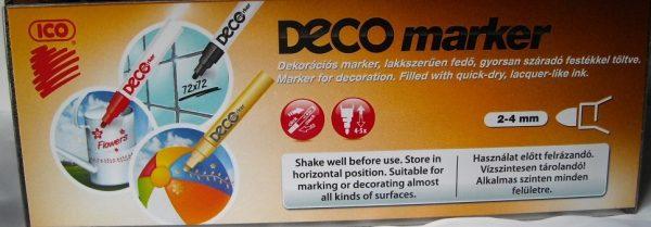 DECO маркери за стъкло,порцелан,керамика 2-4мм