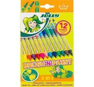 Двувърхи флумастери JOLLY BRUSHNPAINT, 12 цвята