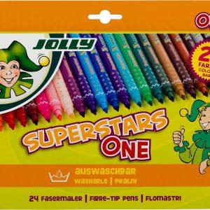 Флумастери JOLLY SUPERSTARS ONE, 24 цвята