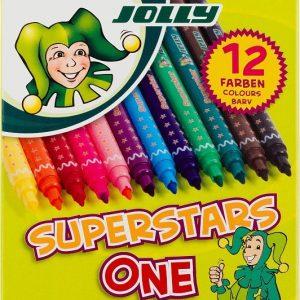 Флумастери JOLLY SUPERSTARS ONE, 12 цвята