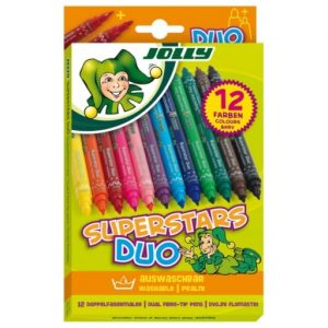Флумастери Jolly Superstars Duo- двувърхи 12 цв