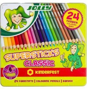 Цветни моливи Jolly Kinderfest Classic 24цв