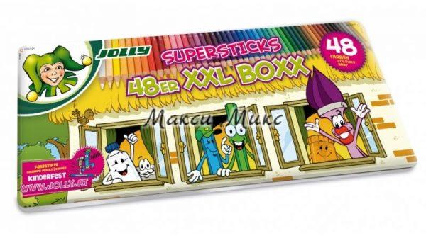 Цветни моливи Jolly Kinderfest XXL 48цв
