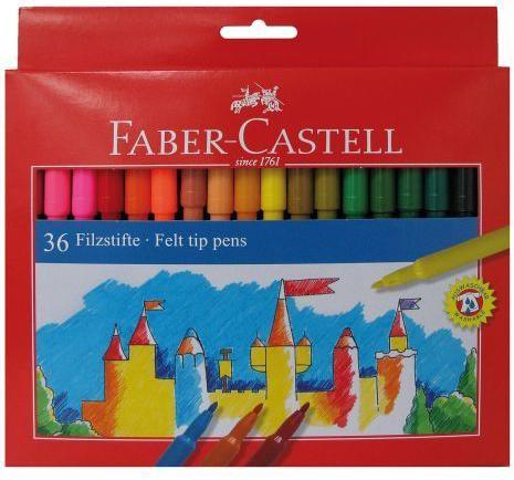Флумастери FC 36 цвята замък