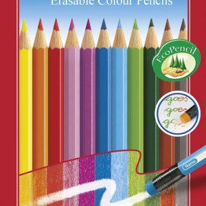 Цветни моливи FC изтриваеми 12цв