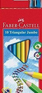 Цветни моливи FC Jumbo триъгълни с острилка 10цв