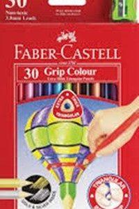 Цветни моливи FC Jumbo триъгълни с острилка 30цв